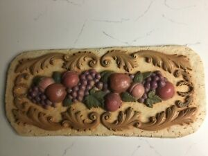 """""""Fruits"""" Wall Plaque Home Interiors, Vintage"""