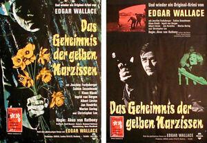 Edgar Wallace DAS GEHEIMNIS DER GELBEN NARZISSEN Plakat von 1961
