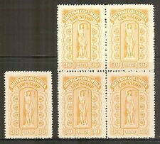 British Columbia #BCL38, 1942-1948 30c Law Stamp - Eighth Series, S/B4 NH