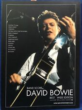 David Bowie Best Wide Edition Japanese Sheet Music Band Score Guitar Bass Tab