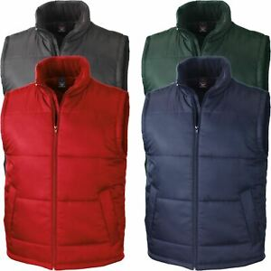 Result Mens Quilted Padded Body Warmer Sleeveless Gilet Water Resistant Jacket