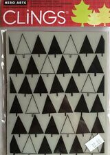 "Hero Arts Clings ""Triangle Tree"" Rubber Stamp * New*"