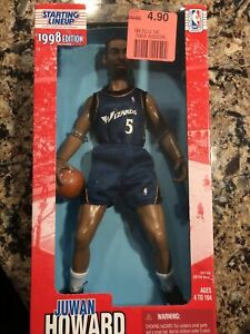 1998 STARTING LINEUP. WASHINGTON WIZARDS JUWAN HOWARD 11 1/2 ACTION FIGURE