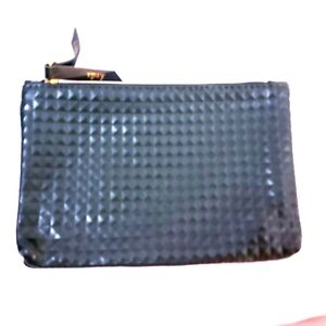 """Ipsy Bag make up bag only Travel size Green Gold Zip Cosmetic Bag 7""""x5"""""""