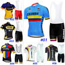 Cycling Jersey Bicycle Shirt Bib Short Set Bike MTB Jacket Tight Colombia Kit