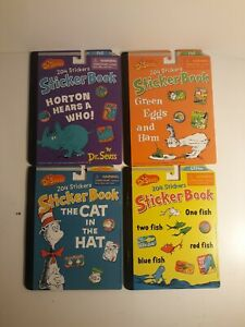 NEW LOT OF 4 DR SEUSS STICKER BOOKS 816 TOTAL STICKERS