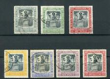 Barbados 1906 Nelson Centenary set SG145/51 FU