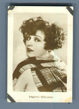 Actress Hanni Weisse  Vintage silver print. Photo provenant d'une série ave