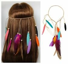 Haarclip Federn rot weiß Haarschmuck Karneval Kostüm Fasching Haarspange Brosche