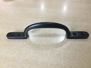 BLACK CAST IRON KITCHEN CABINET DOOR CUPBOARD DRAWER PULL HANDLES TWIN SCREW