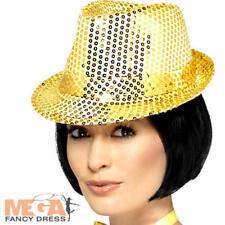 Cappello dorato paillettes BORSALINO Adulti Costume Showtime Vintage Costume da gallina ACC