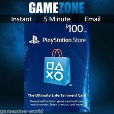 PlayStation Network $100 USD Code - 100 Dollar PSN Store Card - PS4/PS3/PSP USA