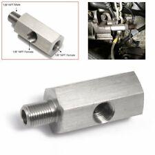 Oil Pressure Sensor Tee 1/8''NPT to Adapter Fitting Turbo Supply Feed Line Gauge