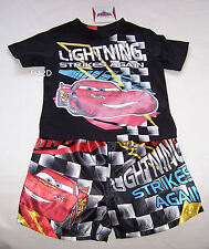 Disney Cars McQueen Boys Black Printed Pyjama Set Size 3 New
