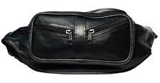Ladies Soft Leather Look PU Bum/Waist Bag Balck,Multi Zip New.