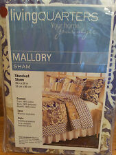 "$70 Living Quarters Mallory Standard Pillow Sham Purple Brown  20"" x 26"""