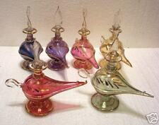 5 EGYPTIAN PERFUME BOTTLES ALADDIN LAMP LAMPS LOT +GOLD