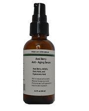 Anti Aging Serum with Acai Berry,Alfalfa,Gotu Kola and Hyaluronic acid 2.3oz