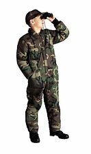 Kids Wood Camo Insulated Coveralls - Boys Winter Overalls Camo Super Warm /XS-XL