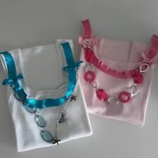 set due top rosa e bianco collana CANOTTA CANOTTIERA MAGLIA H&M BERSHKA ZARA