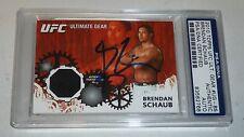 Brendan Schaub Signed 2010 Topps Ultimate Gear UFC Card PSA/DNA COA Autograph 10