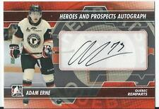 2013-14 ITG Heroes and prospects ADAM ERNE #A-AER Autograph
