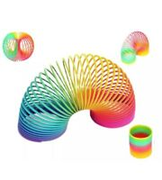 LARGE RAINBOW SPRING COIL SLINKY FUN KIDS TOY MAGIC STRETCHY BOUNCING NEW
