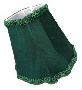 Candelabra Clip On Shade Trim Emerald Green