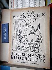 J.B. Neumanns imágenes cuadernos: Max Beckmann 1921 israel ber Neumann