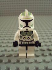 Lego Original Minifig Star Wars ~ Clone Trooper Sand Green ~ Flesh Head