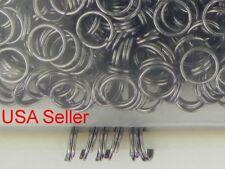500 Black Jump Rings Double Loop Split Rings Iron Steel Jewelry Making 6 mm D014