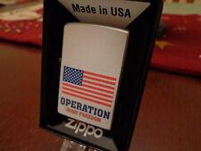 OIF OPERATION IRAQI FREEDOM USA FLAG ZIPPO LIGHTER MINT 2010