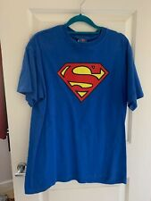 SUPERMAN T'SHIRT MEDIUM UNISEX BLUE