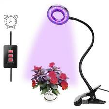 LED Plant Grow Light, Upgraded Timing Function (3H/6H/12H) 12W Clip On Plant Lam