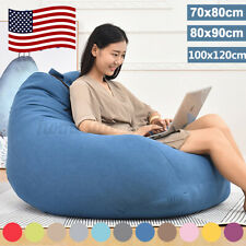 Large Bean Bag Chairs Couch Sofa Cover Indoor Lazy Lounger For Adults Kids