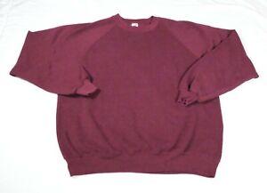 Vintage Jerzees Blank Maroon Red Sweatshirt Sweater Sz 2XL