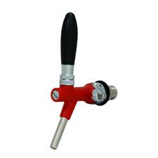 Rubinetto per Impianti di Spillatura Acqua-Birra-Vino (ROSSO)