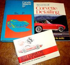Corvette Service Books Repair Manuals 1972 72 & Owners & Bonus! Originals