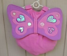 Pink Butterfly Halloween Costume 12-18 Mos Wings Suit Booties Purple Shimmer