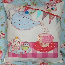 Pattern instructions sew applique cushion Cream Tea bunting cupcakes FREE POST