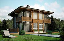 Modern Log House Kit Lh 215 1 Eco Friendly Wood Prefab Diy Building Cabin Home