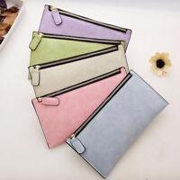 Women Ladies Leather Wallet Card Holder Zipper Purse Clutch Long Handbag Wallet