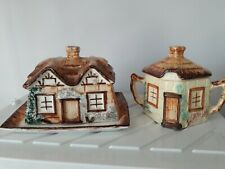 Keele St. Pottery Butter Dish & Sugar Pot.