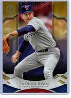 Nolan Ryan 2019 Topps Tribute 5x7 Gold #18 /10 Rangers