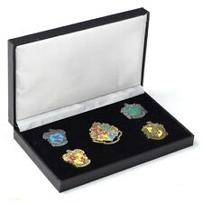 Set of 5 pcs Harry Potter Hogwarts House Metal Pin Badge In Box Xmas Gifts New