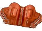 """2-GUN Small of Back (SOB) Brown Leather Belt Holster for 2"""" TAURUS 85 850 856 ++"""