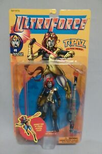 1995 GALOOB ULTRAFORCE TOPAZ WITH ENERGY ROD STAFF #8 ACTION FIGURE (MOC)
