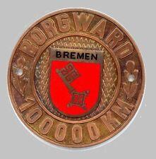 Borgward Isabella Hansa P-100 Grille Badge. 100.000KM Mileage Award -Super Rare!