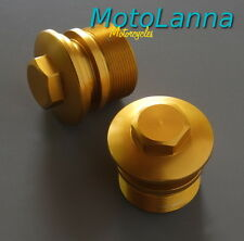 Fork Top Bolts Gold Billet 6063 Alloy Smooth Yamaha SR500 XS650 RD400E Cafe