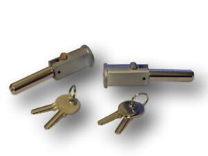 Round Face Roller Shutter Bullet Locks (round face pin locks) x 1 pair